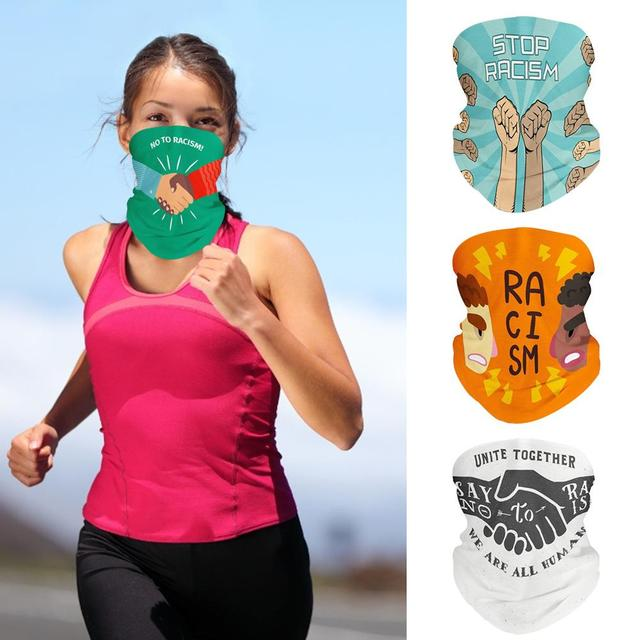 Magic Scarf Men Cycling Motorcycle Balaclava Head Scarves I CAN'T BREATHE Outdoor Windproof Sports Headband Neck Sunscreen Mask 5