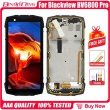 100% original para blackview bv6800 pro lcd & digitador da tela de toque com quadro display tela módulo acessórios ferramentas substituição