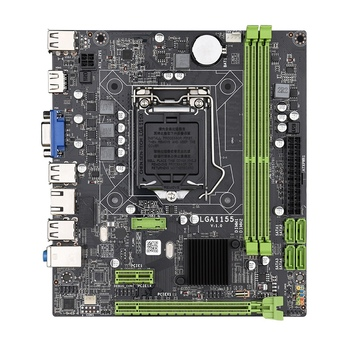 H61 LGA1155 Practical Desktop Computer Mainboard with SATA 2.0 USB2.0 DDR3 1600MHz 16G Dual Channel Motherboard for Core I3 I5 I