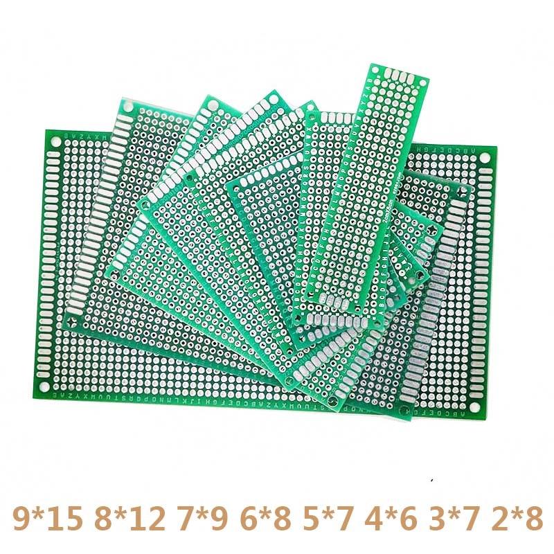8pcs/Lot DIY Double Side Copper PCB Universal Prototype Board Circuit Board Protoboard 9*15 8*12 7*9 6*8 5*7 4*6 3*7 2*8cm
