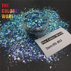 Image 3 - TCT 379 láser camaleón cambio de Color grueso mezcla hexágono brillo para uñas arte decoración arte corporal maquillaje vaso manualidades Festival