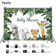 Yeele Photo Backdrops zwierzęta Safari Tropical Baby Shower Party plakat fotografia tła Vinyl Photocall dla Photo Studio