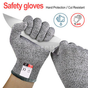 Gloves High-strength Grade Level 5 Protection Safety Anti Cut Gloves Kitchen Cut Resistant Gloves for  Fish Meat Cutting Safety