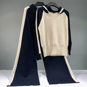 2 Piece Sweater Tracksuits Women Harrem Pants + women 8