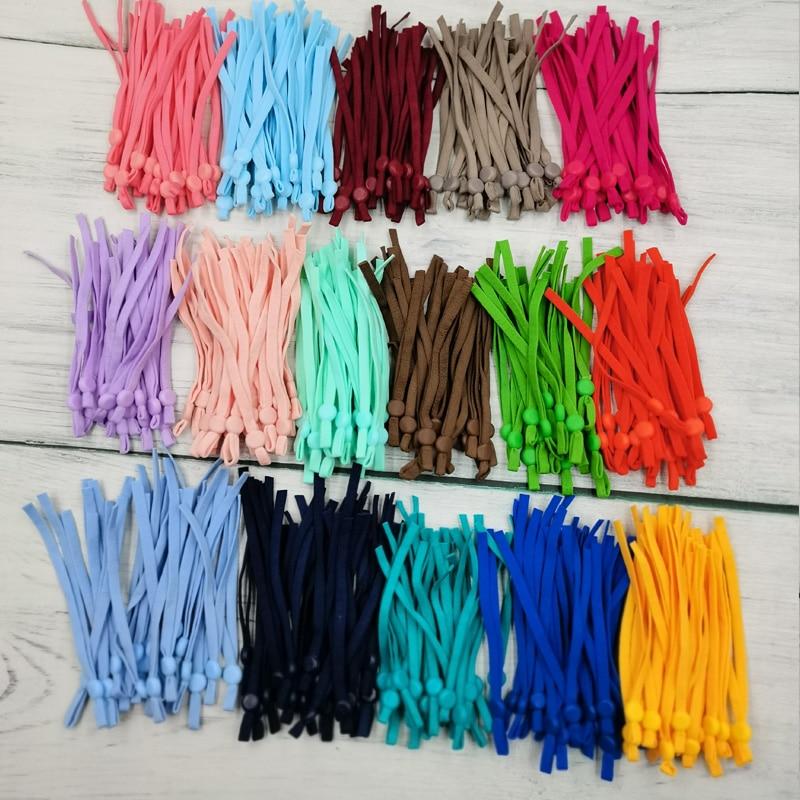50/100pcs 5mm maschera regolabile cavo elastico con fibbia maschere elastiche Earloop cordino paraorecchie corda per fai da te fare forniture