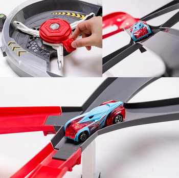 Roundabout Track Builder Hot Wheels Car Toy Model Playset Toys for Children Classic Birthday Gift Hotwheels Gift Juguetes X2589