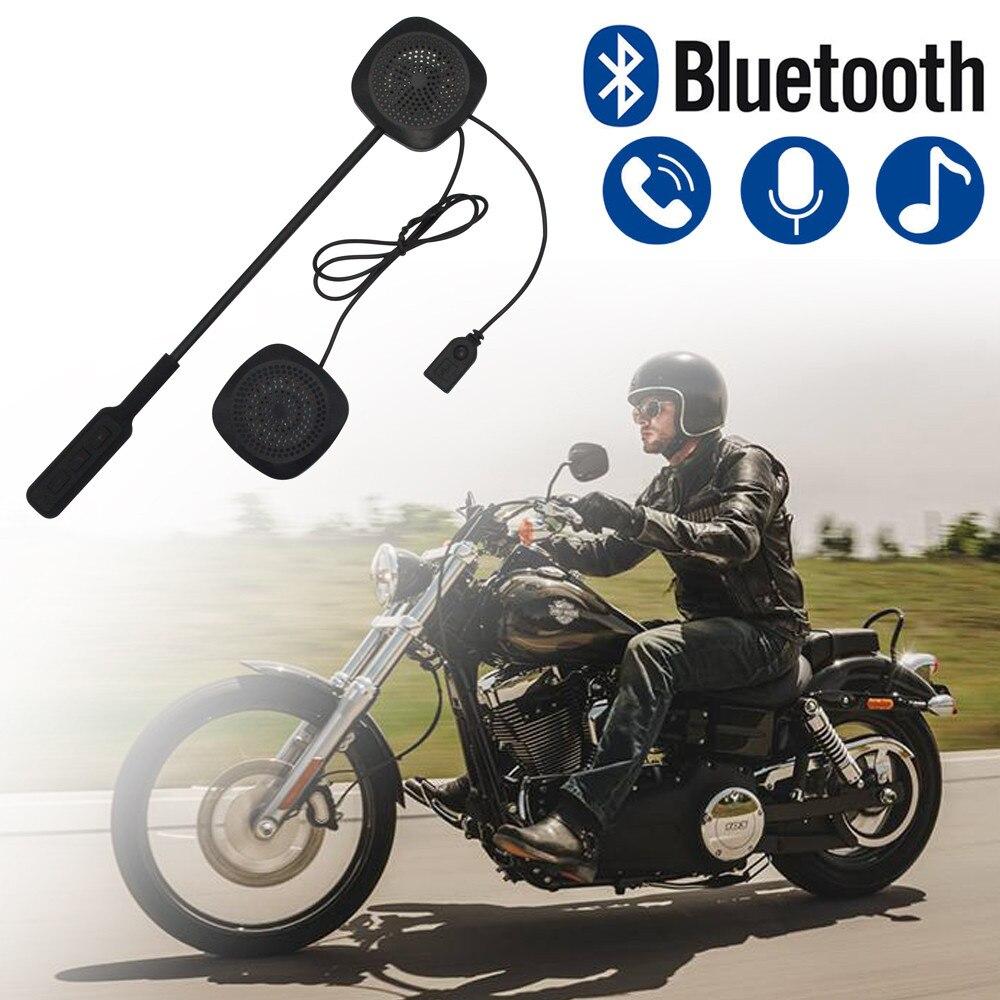 Casque de moto Bluetooth mains libres, pour musique, Gps, mis dans le casque pour fixer fermement, # yl10