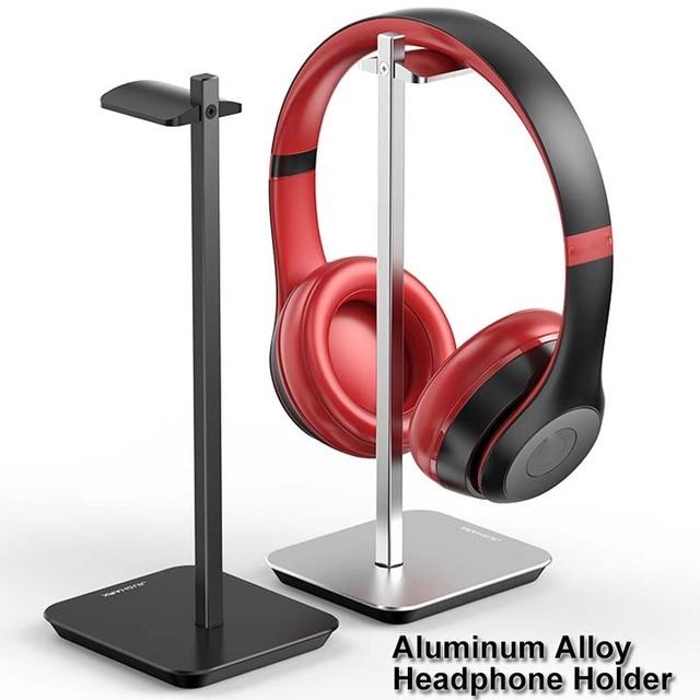Uchwyt na słuchawki ze stopu aluminium przenośny metalowy zestaw słuchawkowy uchwyt stojak półka ekspozycyjna na akcesoria do słuchawek