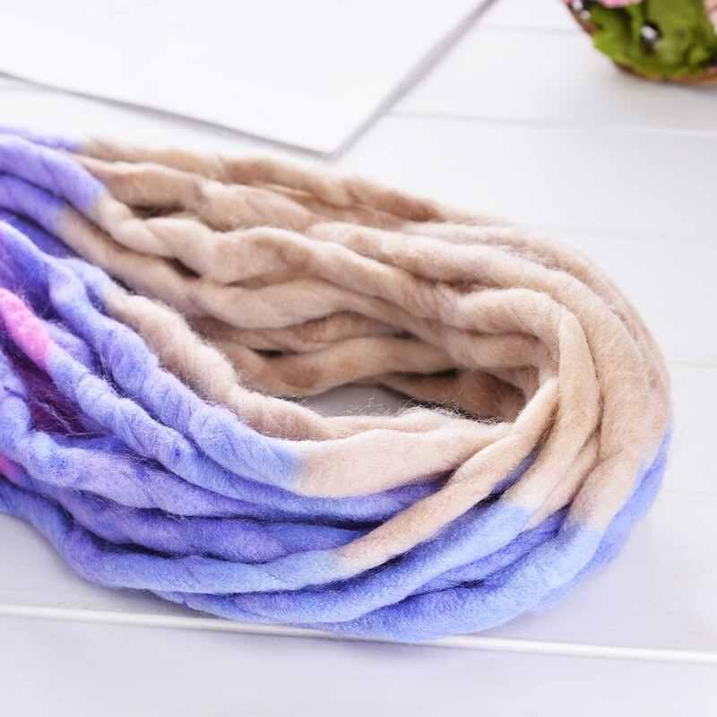 Dick Chunky Garn Weichen Merino Wolle Garn DIY Arm Roving Stricken Decke Hand Stricken Spinning Häkeln Hause Dekoration