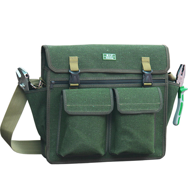 Heavy Duty Canvas Canvas Toolkit Pouch For Electrician Storage Organizer Belt Tote Bag Kit Tool Box Tray Tool Storage