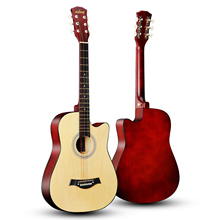 Guitar 6-Strings Cutaway-Folk Students Adult Beginner for 4colors Full-Size 38''