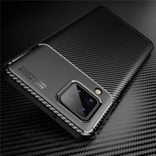 For Samsung Galaxy A12 A02 A02S A01 A21S A21 A41 A11 Carbon Fiber Soft Bumper Case For A51 A71 A31 A10 E A20 S A30 A50 A40 A70