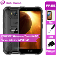 Ulefone Armor X6 5.0 IP68 Waterproof Smartphone Android 9.0 MT6580 Cell Phone Quad Core 2GB 16GB 3G 4000mAh 8MP Mobile Phone