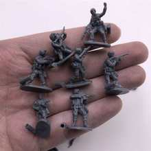 1:72 4d montar soldado modelo de plástico pequeno soldado formas diferentes tabela areia brinquedo modelo
