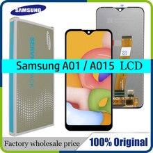 """الأصلي 5.7 """"LCD لسامسونج غالاكسي A01 A015 LCD عرض مع شاشة تعمل باللمس محول الأرقام A015F A015G A015DS الجمعية + حزمة الخدمة"""