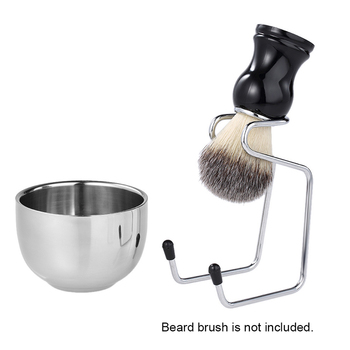 Men's Manual Razor Set Stainless Steel Stand Holder Wet Shaving Beard Brush Bowl Stainless Steel Brushing Frame Suit removable shaving stand razor brush holder stainless steel weighted base tools 15 5x7cm