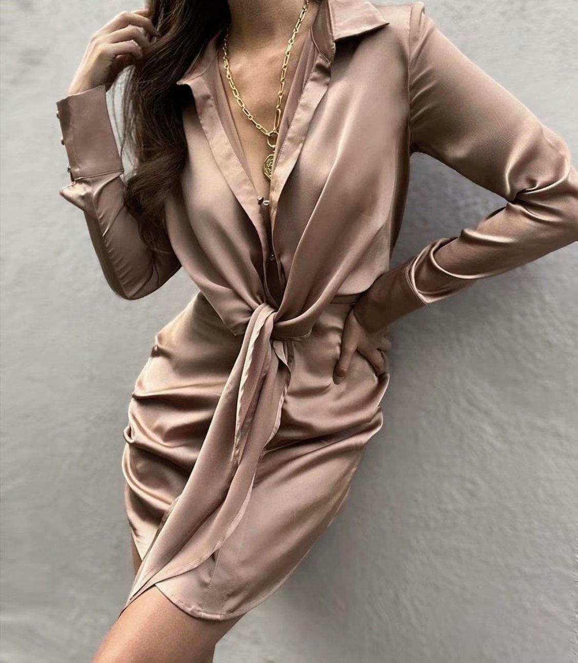 Mini dress summer long sleeves 3