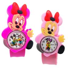 Kreskówka myszka miki zegarek dla dzieci zabawka dla chłopca chłopcy zegarki dla dzieci zegar Minnie gumowy pasek zegarek dziewczęcy prezent bożenarodzeniowy dla dzieci tanie tanio Disney Nie wodoodporne Moda casual QUARTZ Akrylowe NONE Z tworzywa sztucznego 21cm Nie pakiet 40mm Cartoon Kształt zwierząt