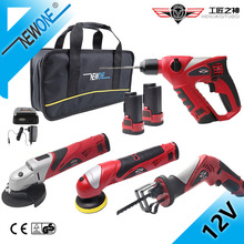 Saw Combo-Kit Cordless-Power-Tool HEPHAESTUS Grinder Reciprocating Electric-Hammer 12V