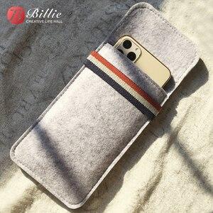 Image 1 - Pour étui iphone 11 Pro, pour Apple iphone 11 Pro Max 6.5 Ultra mince fait à la main en laine feutre housse de téléphone pour accessoires iphone 11