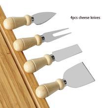 100 комплекты 4 шт./компл. деревянной ручкой Нержавеющая сталь сырный набор для выпечки инструменты Кухня Пособия по кулинарии аксессуары