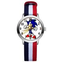 Mode Niedlichen Cartoon Igel Stil Kinder Uhren Kinder Student Mädchen Jungen Quarz Nylon Strap Armbanduhr JA227