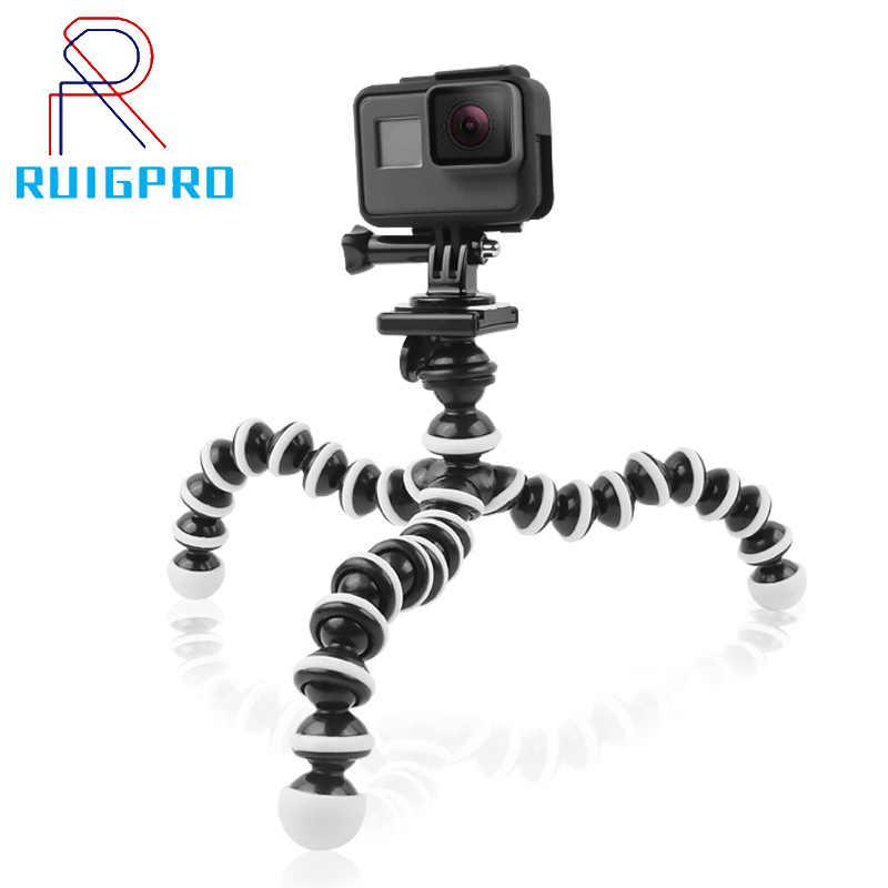 RuigPro para 2019 pulpo Flexible trípode para Gopro héroe cámara DV Digital Canon Nikon teléfono móvil de tamaño pequeño