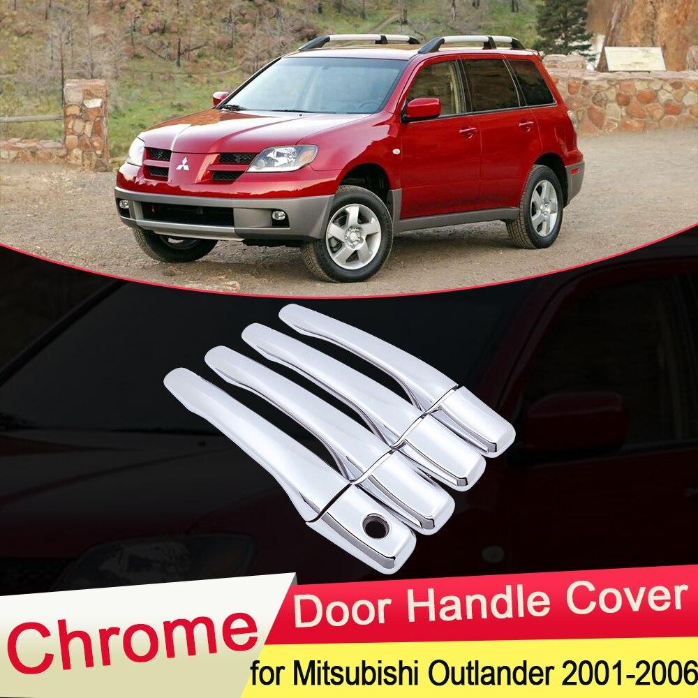 for Mitsubishi Airtrek Outlander 2001 2002 2003 2006 Chrome Door Handle Cover Trim Catch Car Cap Stickers Accessories Garnish