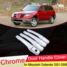 Para mitsubishi airtrek outlander 2001 2002 2003 2006 chrome maçaneta da porta capa guarnição captura tampa do carro adesivos acessórios decore