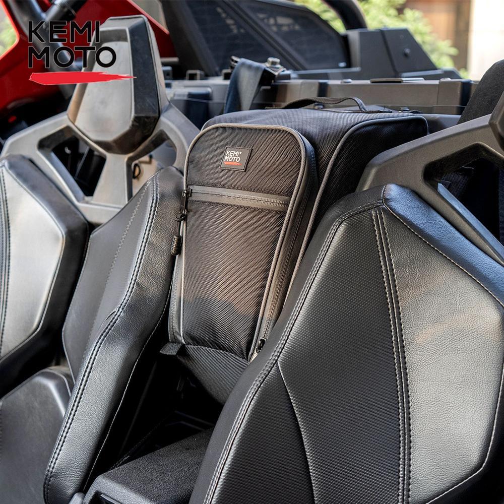 KEMIMOTO 2020 UTV Cab Pack Center Console Seat Storage Bag For Polaris RZR PRO XP 2020 1680D PVC Wear Water Resistant Zipper