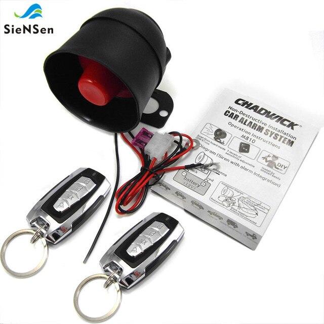 Универсальная автомобильная система сигнализации SieNSen 12 В с функциями ACC/вибрации/багажника/дверного триггера, простая установка M810