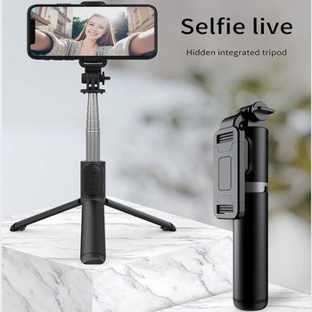 2020 New 1m Lengthen 3 in1 Wireless Bluetooth Selfie Stick Extendable Handheld Monopod Foldable Mini Tripod With Shutter Remote
