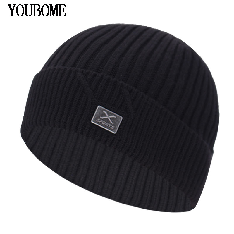 Fashion Knitted Hat Men Winter Beanie Women Winter Hats For Men Skullies Beanies Bonnet Brand X Beany Male Men's Beanie Hat Cap