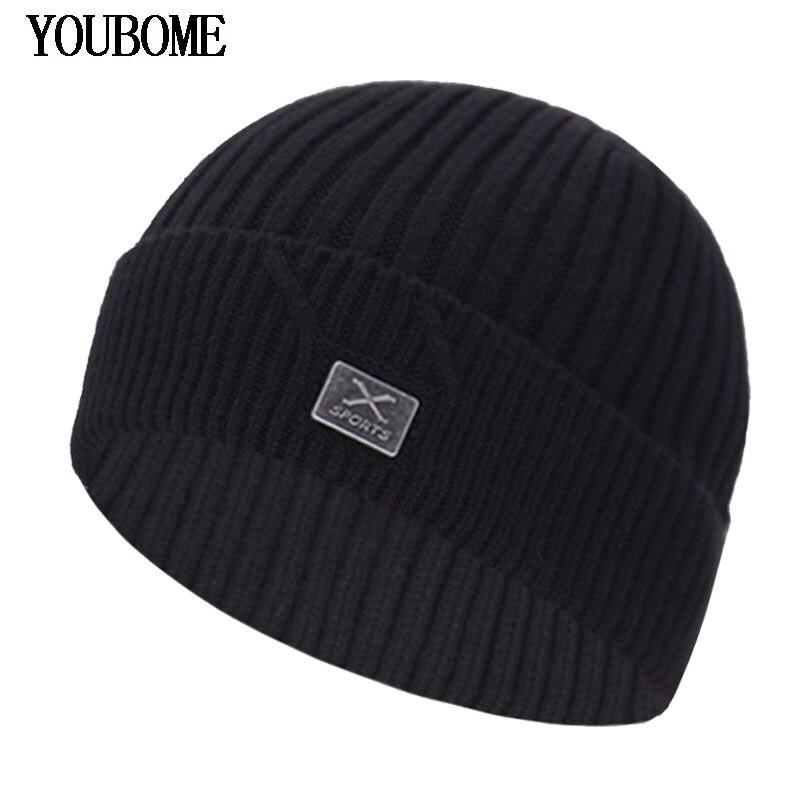 Fashion Knitted Hat Men Winter   Beanie   Women Winter Hats For Men   Skullies     Beanies   Bonnet Brand X Beany Male Men's   Beanie   Hat Cap
