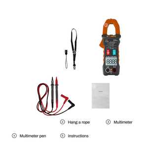 Image 5 - 4000 zählt Voll Intelligent Automatische Range Digital Strom Multimeter AC/DC Zangen Voltmeter Amperemeter Elektrische Instrumente