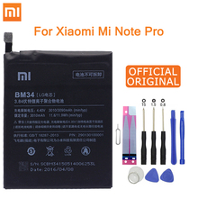 Xiao Mi Original BM34 Battery For Xiaomi Mi Note Pro 4GB RAM 3010mAh High Capacity Replacement Battery Free Tools Retail Package