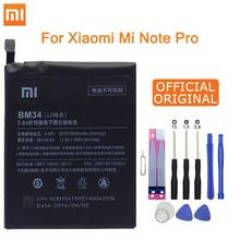 Xiao mi oryginalna bateria BM34 dla xiaomi mi note Pro 4GB RAM 3010mAh o dużej pojemności wymienna bateria darmowe narzędzia pakiet detaliczny