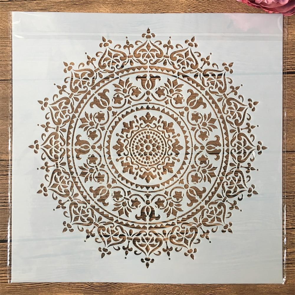 Big Flower Round Mandala DIY Layering Stencils Painting Scrapbook Album Decor