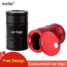 Aluminum Alloy Car Ashtray Portable Smokeless Can Vehicle Cigarette Holder Rubber Home Office Smoke Cylinder
