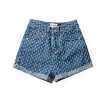 Vintage Y2k Women Shorts Ripped Baggy Boyfriend Jeans Women Summer 2021 Distressed Egirl Harajuku Wide Leg Skater Denim Shorts