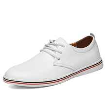 Men Genuine Leather Shoes Fashion Casual Men's Real
