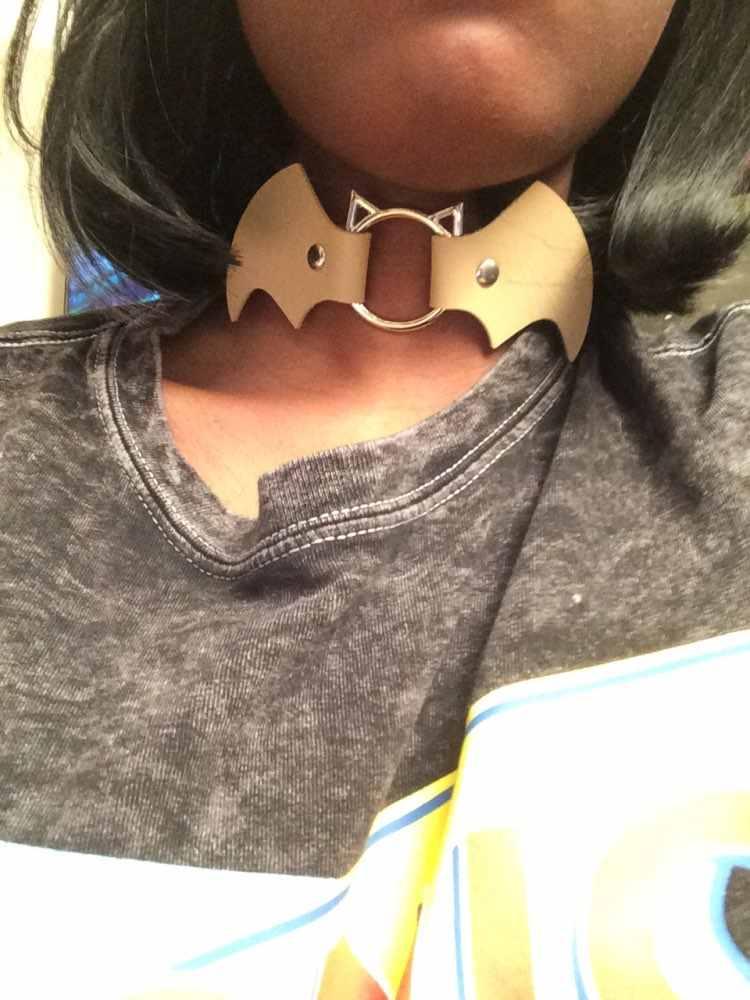 Kolec punkowy metalowy kołnierz dziewczyny skórzana uprząż Choker naszyjnik dla kobiet do klubu na imprezę Chockers Gothic Bondage Emo Witch Jewelry