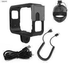 Cadre de protection casque cadre fixe monture pour support pour Original SJCAM SJ9 Max Strike Sj4000X accessoires caméra daction