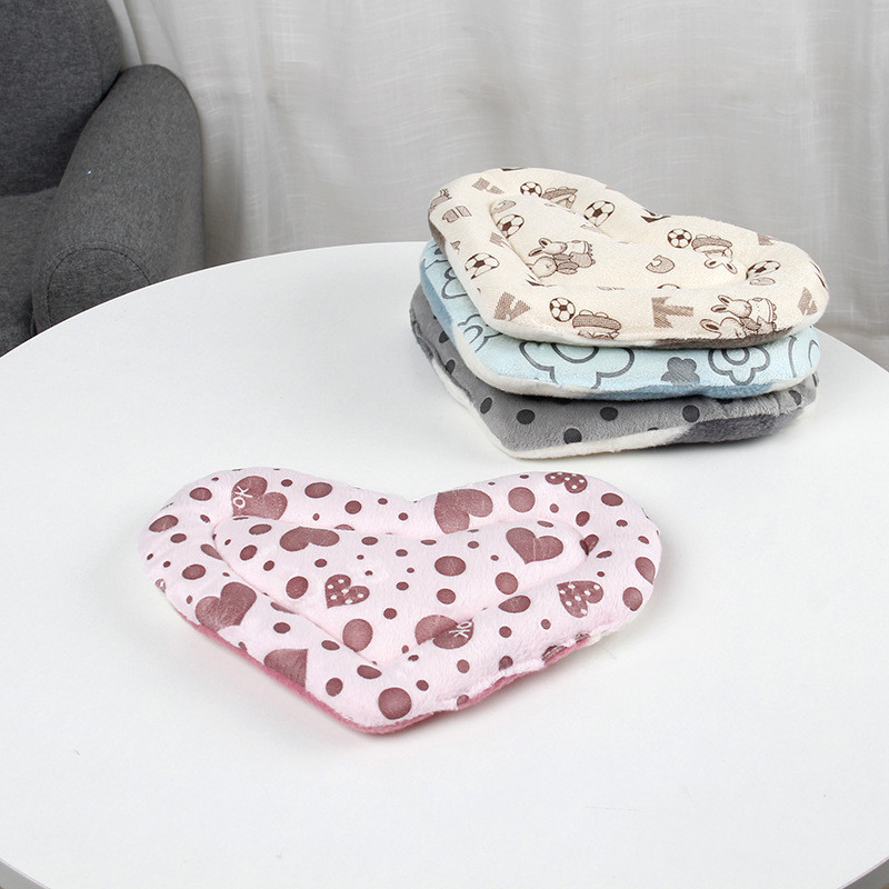 Warm Cotton Heart Small Animal Sleep Mat Pad Bed Cushion Nest For Hamster Hedgehog Squirrel Mice