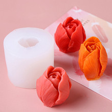 Silicone Mold Soap Forms Flower-Soap Soap-Making-Supplies Tulip Handmade DIY 3D