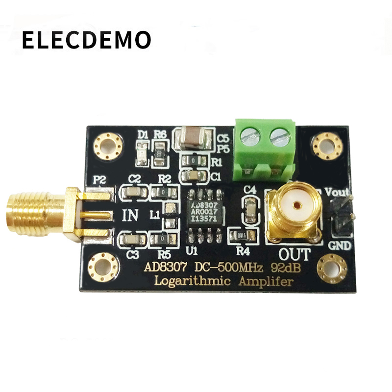 AD8307 module RF Power Detector Module Logarithmic detector Transmitter Antenna Power to 500MHz Function demo board-in Demo Board Accessories from Computer & Office