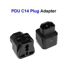 Converter-Socket Pdu-Plug-Adapter Universal Iec320 C14 Female UPS EU To 1PCS 2-In-1