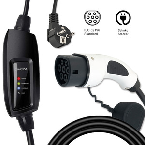 Image 1 - DUOSIDA evse input EV charging stations 16A schuko Connector IEC 62196 2 Type2 Electric car Charging level 2 Charger plug