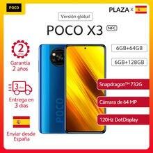 Version mondiale POCO X3 NFC 6GB 64/128GB Smartphone Snapdragon 732G 33W Charge rapide 6.67 ''Dotdisplay 5160mAh 64MP AI Quad caméra