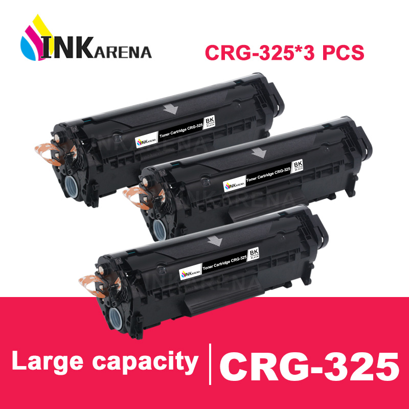 INKARENA 3PCS CRG 325 Black Toner Cartridge Compatible for <font><b>Canon</b></font> CRG325 image CLASS <font><b>LBP6000</b></font> LBP6018WL LBP6030w MF3010 Printer image